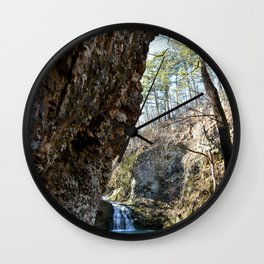 Alone in Secret Hollow with the Caves, Cascades, and Critters, No. 16 of 21 Wall Clock
