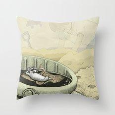 A Rat in a Bucket Throw Pillow