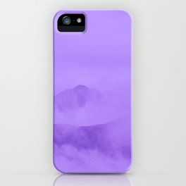 Lilac Fog Surrounding Anchorage Mountains iPhone Case