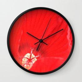 Red Hibiscus | Flower | Flowers | Nadia Bonello | Canada Wall Clock