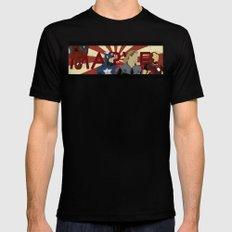 The Avengers forgot Spiderman Mens Fitted Tee Black MEDIUM