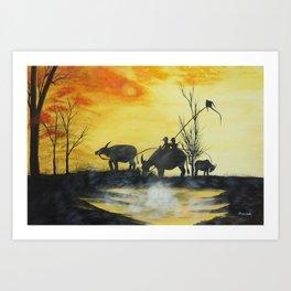 Our Evening Art Print