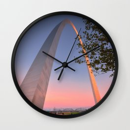 Gateway Arch at sunset in St. Louis, Missouri. Wall Clock