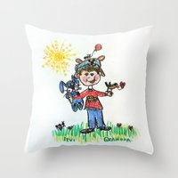 calendars Throw Pillows featuring :: You Are My Sunshine :: by :: GaleStorm Artworks ::