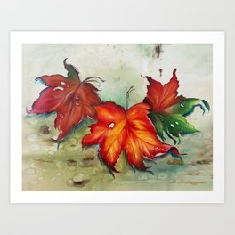 Autumn Leaves (Platanus) Art Print