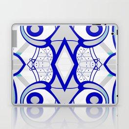 Blue morning - abstract decorative pattern Laptop & iPad Skin