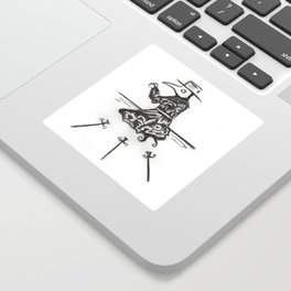 Plague, Three of Swords Sticker