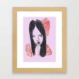 Still In My Head Framed Art Print