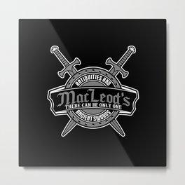 MacLeod's swords shop Metal Print