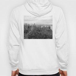 Castle Ruins | Irish Landscape | Black and White  | Halloween | Nadia Bonello Hoody