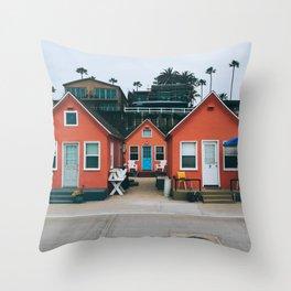 Beach Bungalows Throw Pillow