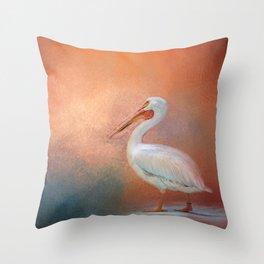 Pelican Walk Throw Pillow