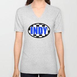 """INDY Oval """"Sticker"""" Unisex V-Neck"""