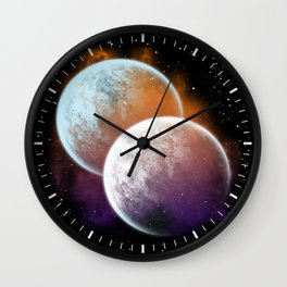 Together forever - Planets Wall Clock