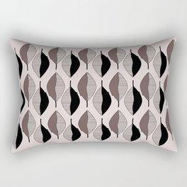 Mauve & black leaves Rectangular Pillow