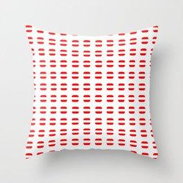 flag of austria 7 - with soft square Throw Pillow