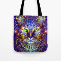 "mercedes Tote Bags featuring ""Feed Me Can Food."" - Sir Parker by Sir P & Lady J"