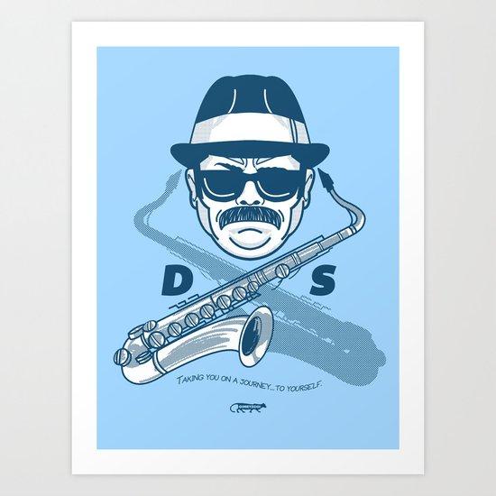 Duke Silver Art Print