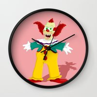 pennywise Wall Clocks featuring Krusty by Fransisqo82