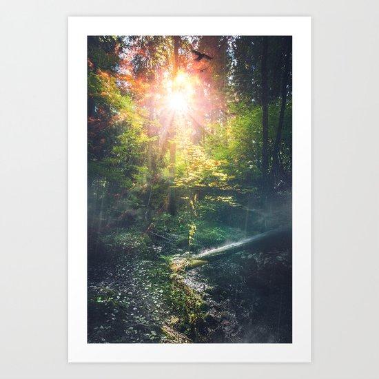 Just breathe Art Print