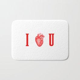 I - Heart - U Bath Mat