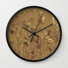 Thin Branches Sepia Wall Clock