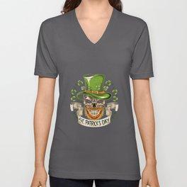 leprechaun hat st patricks day Unisex V-Neck