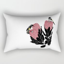 New Holland Honeyeater on Protea Rectangular Pillow