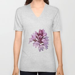 Pink Orchid Wildflower Unisex V-Neck