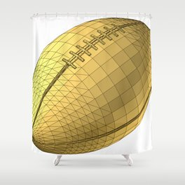 rugby ball Shower Curtain