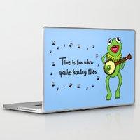 kermit Laptop & iPad Skins featuring Kermit having fun by BlackBlizzard