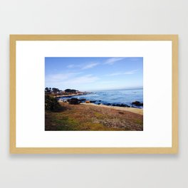 17 mile drive - California Countryside Framed Art Print