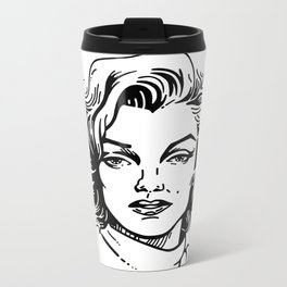 pretty Marilyn Metal Travel Mug