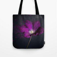 Clematis Explosion Tote Bag