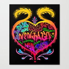 Ninjago Graffiti Tee Canvas Print