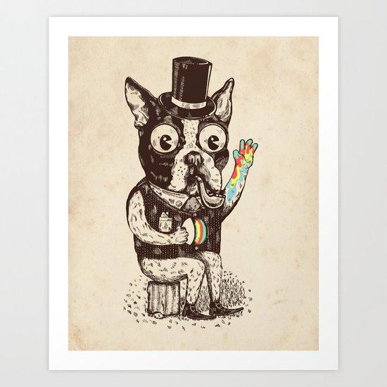 Strange Dog Art Print