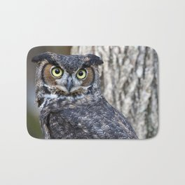 The Great Horned Owl Bath Mat
