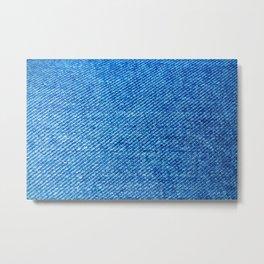MACRO - JEANS - TEXTURE - BLUE - PATTERN Metal Print