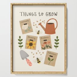 Things to Grow - Garden Seeds Serving Tray