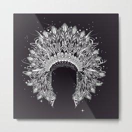 Chieftain's Headdress Metal Print