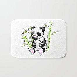 Digital Charcoal Panda (without glimmer) Bath Mat