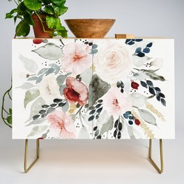 Loose Watercolor Bouquet Credenza