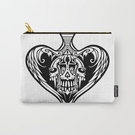 Triple Skull Heart Carry-All Pouch