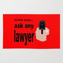 Crime Pays Rug