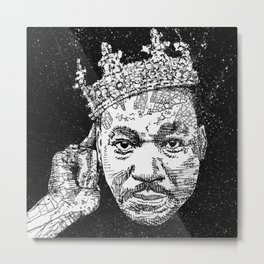 Martin Luther drawing illustration Metal Print