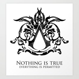 Assassin's Creed - Nothing is True Art Print