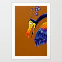 kevin russ Art Prints featuring Kevin by Shannon Gordy