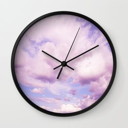 Pink Clouds In The Blue Sky #decor #society6 #buyart Wall Clock
