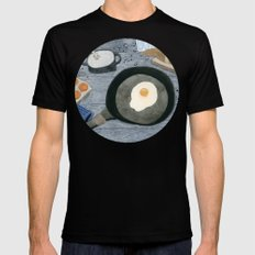 Egg For Breakfast Mens Fitted Tee Black MEDIUM