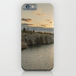 Sunset at Halibut Point Park iPhone Case